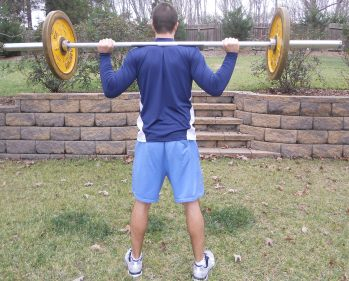 Rack position for back squat