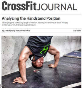 Zach Long CrossFit Journal Handstand